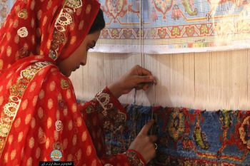 Exhibition of handmade carpets