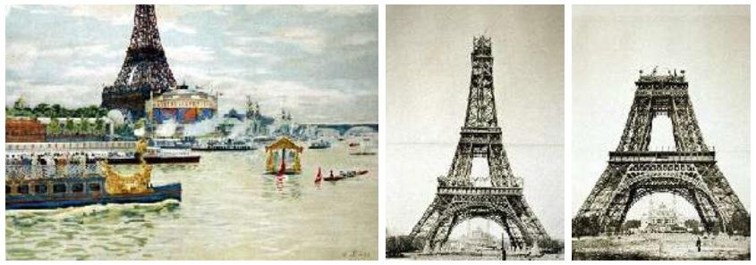 طراحی سالن و غرفه نمایشگاهی - تصاویر ساخت برج ایفل و مراسم افتتاح اکسپو ١٨٨٩ پاریس