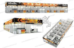 Stand design using octanorm Elements
