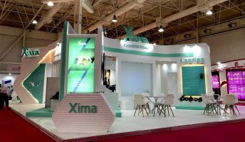 Stand design for xima company at the International Electric Exhibition